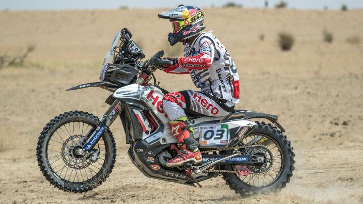 cs santosh competing at india baja 2018 2