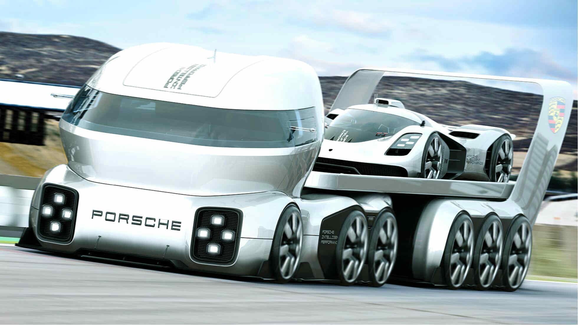 Should Porsche make this futuristic race transporter?