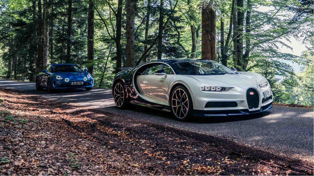 Speed Week '18 Team France: Bugatti Chiron and Alpine A110