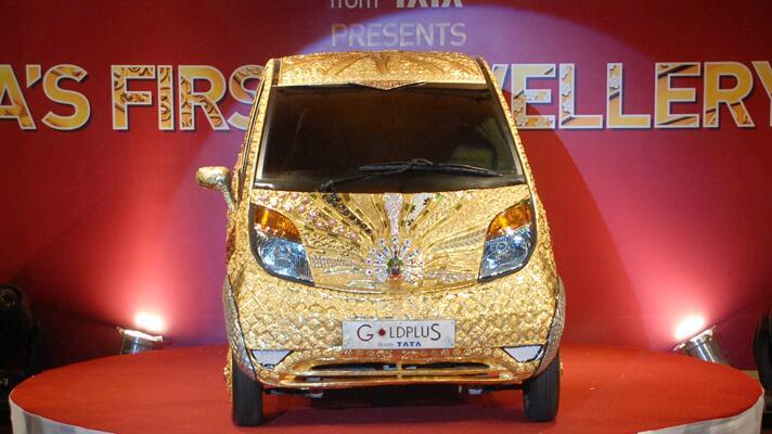 Tata's Rs 22 crore gold-coated Nano