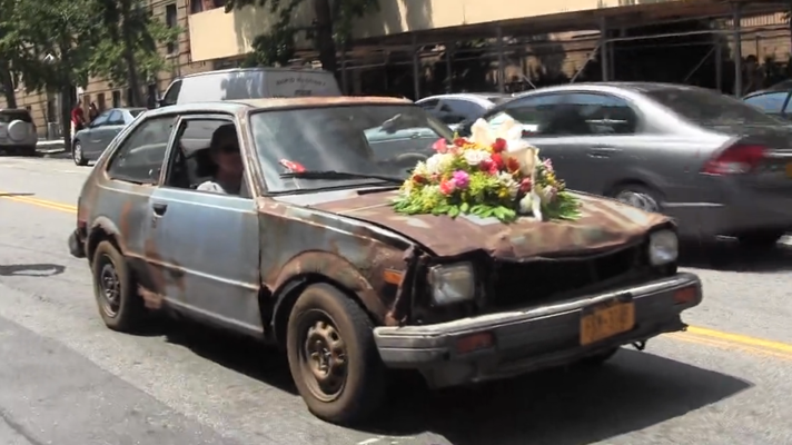 Video: car gets emotional local funeral
