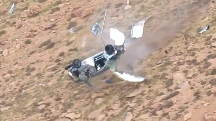 Watch: massive Evo crash at Pikes Peak