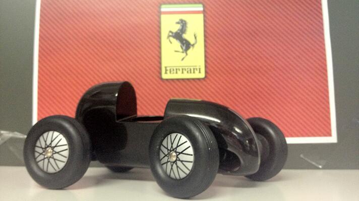 Pics of wooden model Ferrari hit internet