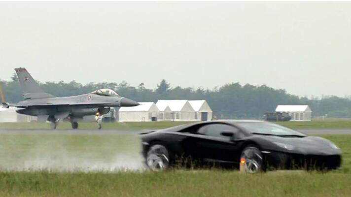 Watch F16 Jet Vs Lambo Aventador Car News Bbc Topgear Magazine