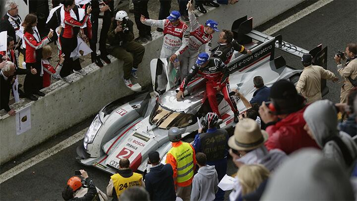 Tom Kristensen and Audi win the 2013 Le Mans 24hrs!