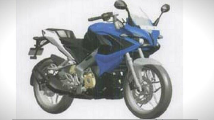 Bajaj Pulsar 375 image leaks out
