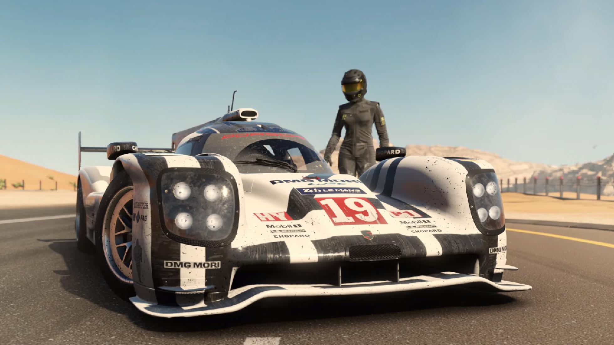 Forza 7's first trailer takes a Porsche 919 to the desert