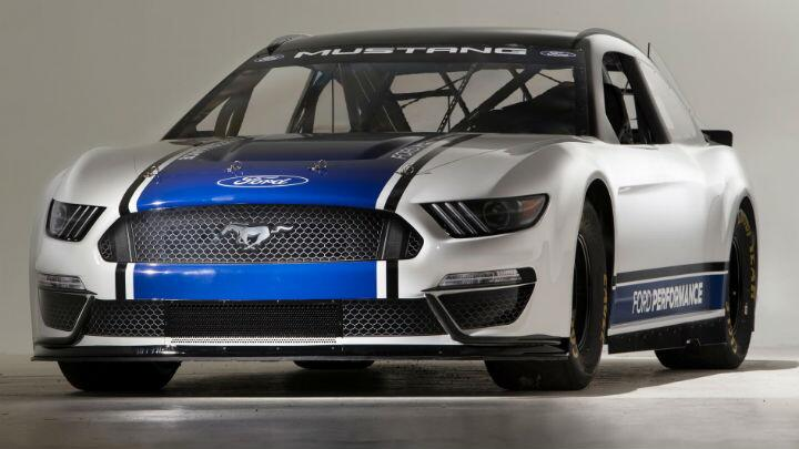 This is a NASCAR-ready Ford Mustang