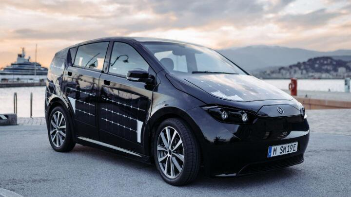 This solar panel car charges while you drive