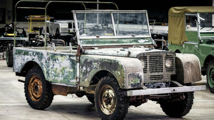 Land Rover's first launch star has been saved from someone's garden