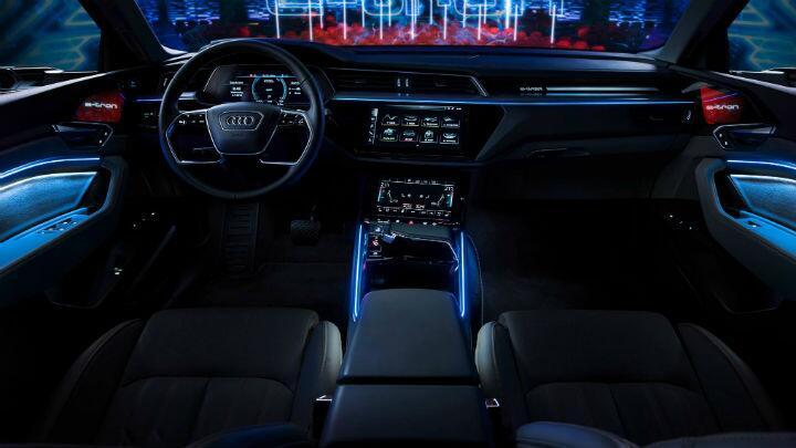 Take a look inside Audi's e-tron electric SUV