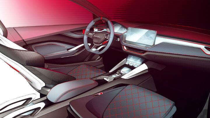 Skoda teases Vision RS interior ahead of its launch