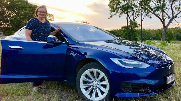 This woman drove her Tesla 20,396km around Australia