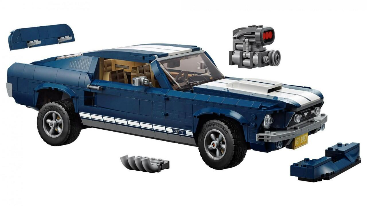 Legos new ford mustang features a supercharger and nitrous