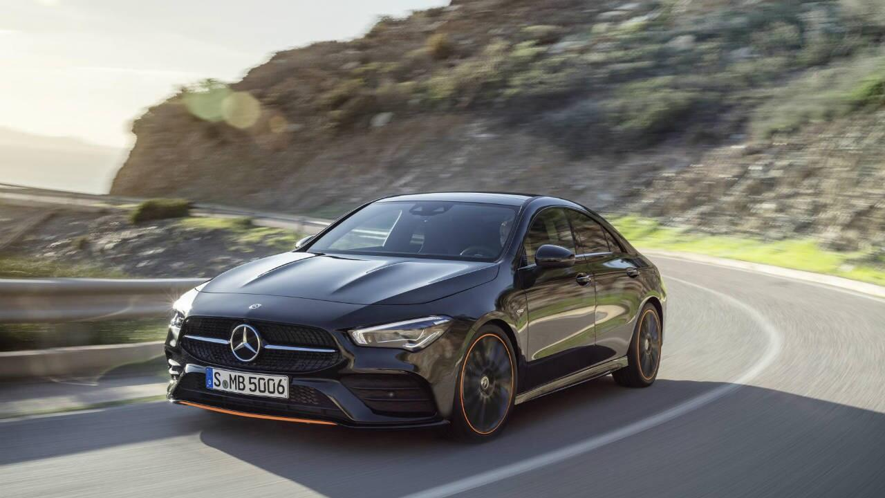 The new Mercedes CLA has clever mood lighting and mini-CLS looks