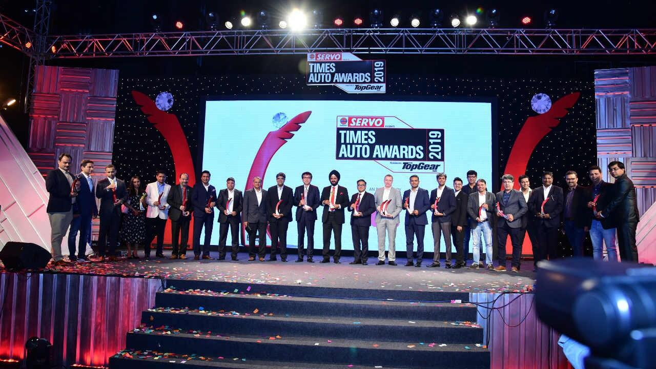 Winners of the Times Auto Awards powered by TopGear India