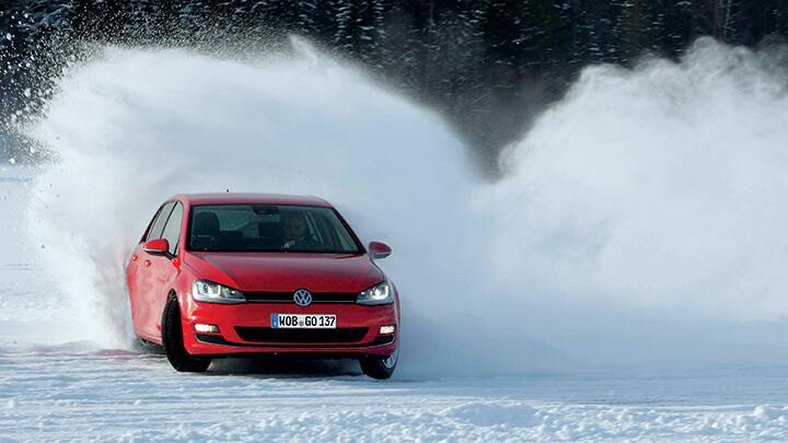 Volkswagen Golf on ice