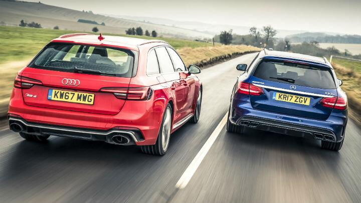 Audi RS4 Avant vs Merc C63 AMG Estate