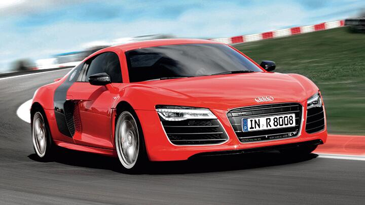 Audi R8 driven on the Nurburgring