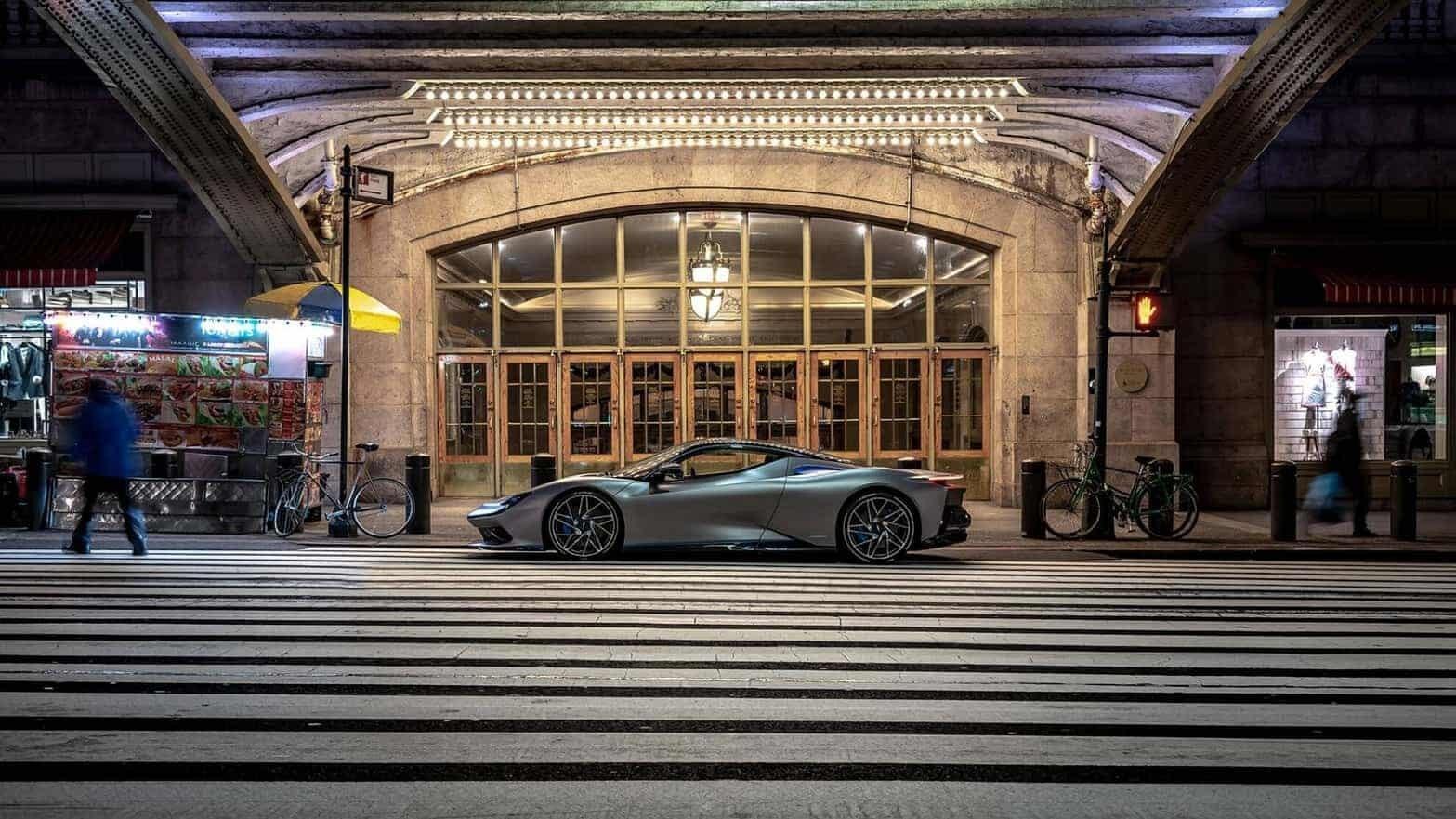 The Pininfarina Battista has hit the streets of New York