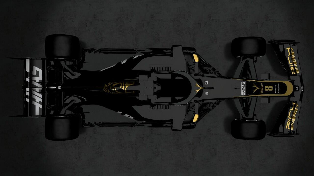 This is Haas's new 2019 F1 car