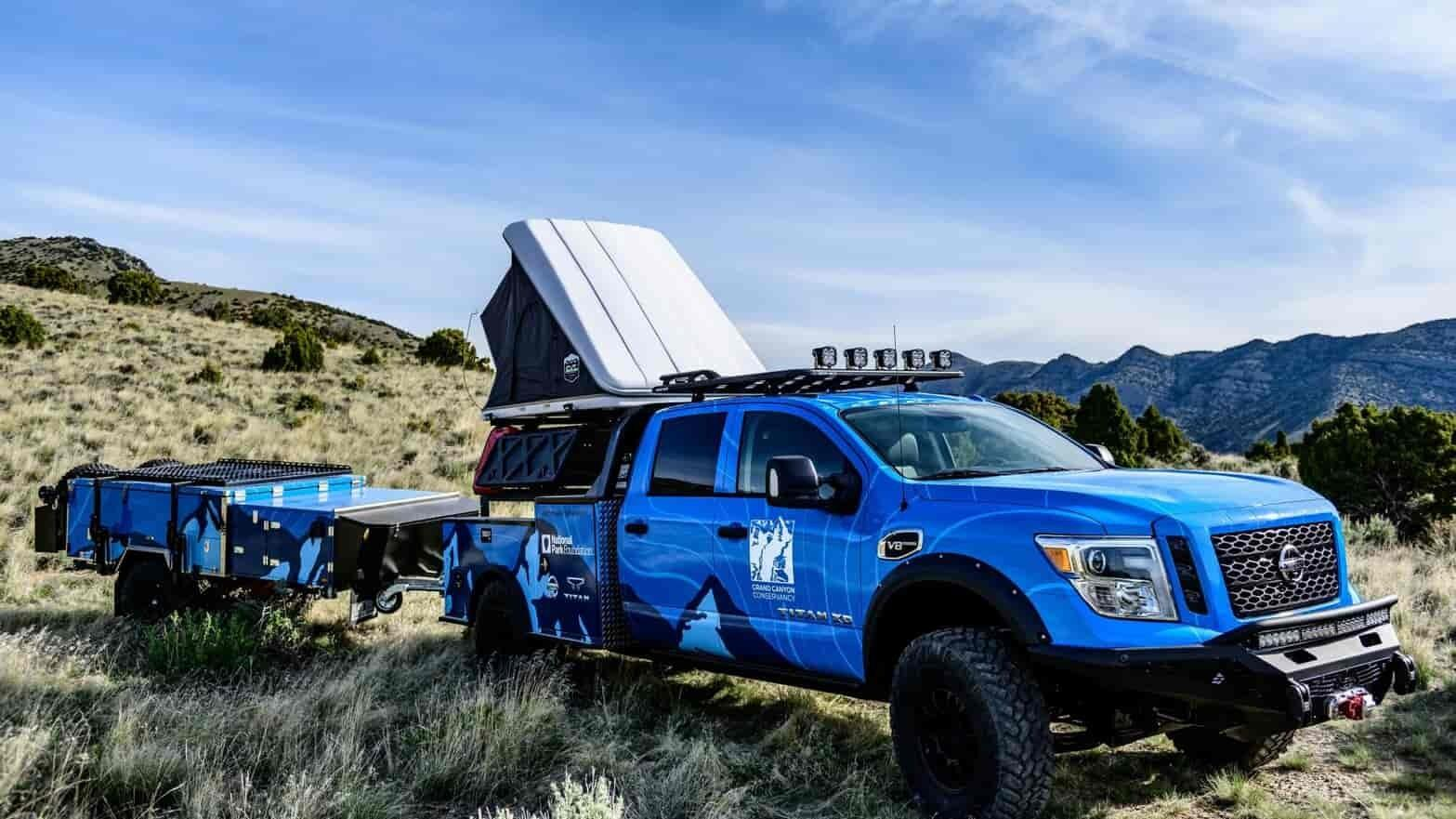 This mega Nissan Titan was built for the Grand Canyon